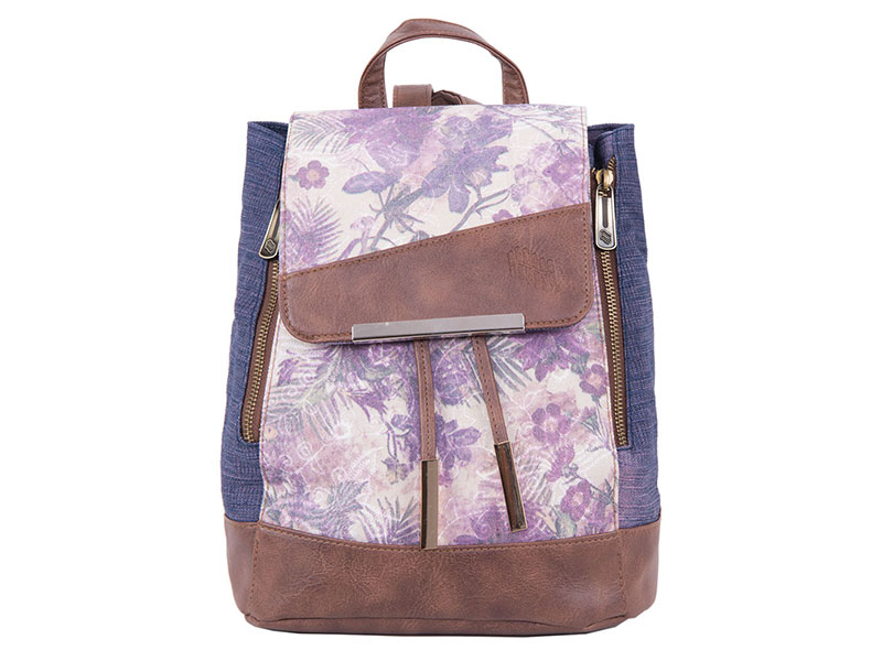 BACKPACK PULSE MINI JEANS FLORAL