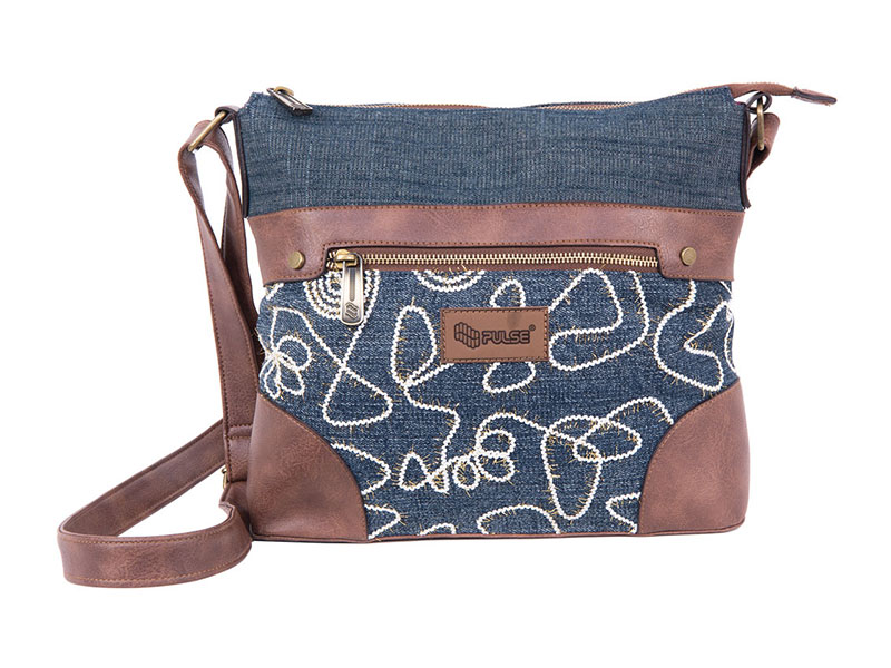 SHOULDER BAG PULSE JEANS GLOSSY