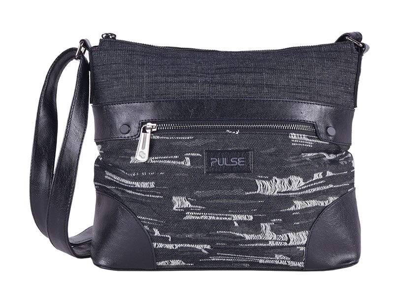 SHOULDER BAG PULSE GENOVA BLACK JEANS