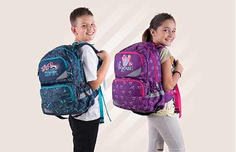 Anatomic backpacks for primary school